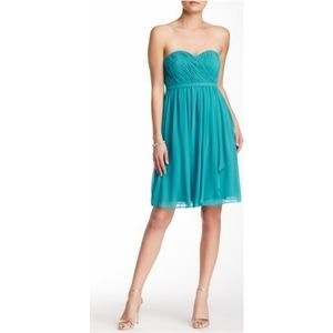 Donna Morgan Formal Strapless Silk Dress Size 0